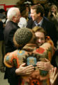 Elizabeth Edwards and her husband Democratic Presidential candidate John Edwards meet with...