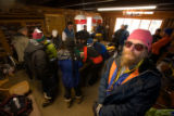 (Leadville, Colo., Jan. 5, 2008) Tom Sobal at race registration.  Sobal both organized and...