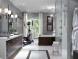SH08A082DIVINEDESIGN Jan. 14, 2008 -- By using masculine finishes, modern fixtures and...