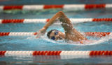 Jessica Rodriquez, (cq) former Cherry Creek High swimmer who is now an Olympic hopeful trains at...