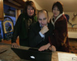 Ivestigator Linda Wheeler-Holloway and DNA experts Richard Eikelenboom (cq) and wife Selma...