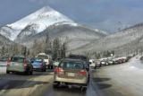 Relentless mountain snowstorms created havoc for travellers heading west on I-70 near the...