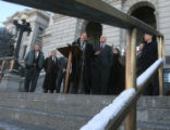 Members of the statehouse GOP, during a press conference on the west steps of the Capitol, Tuesday...