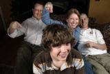 Family portrait of Alice Madden-D-Boulder family at her home in Boulder January 22, 2008. they are...