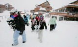 High School students start their practice on the first half of the day at Crested Butte Academy,  ...