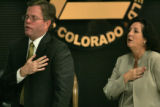 City of Broomfield City Councilmember, Vincent J. Buzek, left, and Current Mayor of Broomfield,...