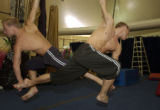 (DENVER, Colo., June 1, 2004) Kevin and Andrew Atherton, British twins, work on fine tuning...