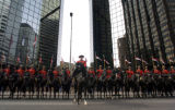 The  Royal Canadian Mounted Police stop briefly on Broadway with the Consulate General of Canada...
