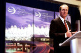 (DENVER, Colo., Oct. 27, 2005) Gary KElly, chief executive officer of Southwest Airlines announces...