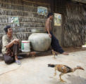 (NYT48) PREY ROGNIENG, Cambodia -- Nov. 2, 2005 -- BIRD-FLU-CAMBODIA -- Villagers in Prey...