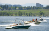 With temperatures topping out around 92 degrees Monday June 27, 2005 Cherry Creek State Park was a...