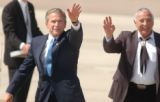 Peterson Air Force, Colo.-June2, 2004- President  George Bush arrived at Peterson Air Force Base...
