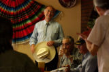 Sagauche, Colo. 5/27/04-- At the Oasis Restaurant democrats came to listen to Attorney General Ken...