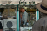 Creede, Colo. 5/27/04-- At the Cafe Ole, democrats came to listen to Attorney General Ken Salazar...