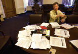 Denver Mayor John Hickenlooper in his office at the City and County building on Wednesday July 13,...