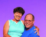 Rocky Fitness Challengers participants Ron and Pauleta Oehlerking (spouses).  (HAL STOELZLE/ROCKY...