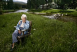 "Betty Dick at her home in Rocky Mountain National Park, just outside of Grand Lake.  ""She was..."