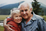 A family photo of Fred and Betty Dick on their land in Rocky Mountain National Park, just outside...