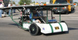 "Colorado's entry, the ""Steel Demon IV"" solar car from Ridgway High School, drives..."
