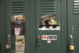 A Day In The Life Of Focus On The Family:  The lockers in the operations building of Focus on the...