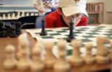 Grant Kelley, 9, Denver, cq, concentrates on his opponent's next move during a The Chess Academy...
