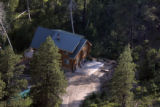 A log house on land north of Mancos, Colorado on July 1, 2005. owned by the Fundamentalist Church...