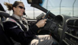[DENVER}, {Colorado} - {8/19/03} -- Stacy Kuhn drives the CART Pace Car around the race track at...