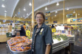 Glenda Ransiear, manager on duty at the Sunflower Market at 2880 S. Colorado Blvd. in Denver,...