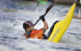 Whitewater kayakers participate in the third annual Golden Community Rodeo 2005 Wednesday June 15,...