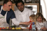 !!!  CAPTION INCOMPLETE !!! Washington D.C.-based Spanish chef Jose Andres, left, with his...