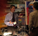 [DENVER, CO   6/3/04]  Jim Bosch of the National Renewable Energy Laboratory explains a model of a...