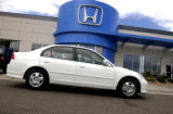 Westminster, Colo., photo taken June 3, 2004- The new Honda Civic Hybrid located at John Elway...
