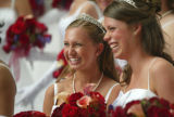 (Denver, Colo., June 11, 2005) Left to right:  Rachel Greenberg and Stephanie Arnold share a laugh...