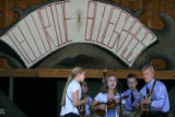 The Burnett Family Bluegrass Band performs at the 32nd Annual Telluride Bluegrass Festival in...