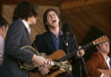 Reid Burgess, left, and John McDonald, right, of King Wilkie, sing at the 32nd Annual Telluride...