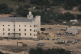 Aerial photo of the construction of a temple on the YFZ Ranch near Eldorado, Tx on May 1, 2005. ...