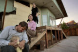 The Chatwin family at their home in Colorado City, Ariz. on Tuesday May 31, 2005.  Ross, left,...