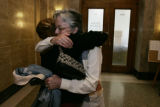 Outside of Courtroom 10 at the City and County Building on 6/10/05, Kris Mansfield's mother Julie...