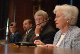 Mrs. Betty Dick presents her case to the Senate Subcommitee on National Parks of the Committee on...