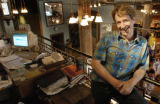 Portrait of Steve Weil (cq), vice president of Rockmount Ranch Wear, Msg. Co, in the downtown...
