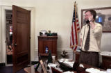 "Denver Mayor John Hickenlooper (cq) discusses details of his upcomming ""State of the..."
