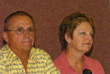 Dale (cq) (dad) and Chris Christensen (cq) (mom) parents of missing ranger Jeff Christensen talk...