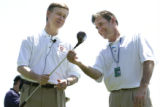 during a Pro-Am at the 20th anniversary of the International at the Castle Pines Golf Club in...