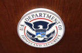 United States Department of Home Land Security seal at a Press conference held Wednesday afternoon...