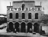 """News Block"" on Larimer St., built in 1866 as the paper's first substantial brick home...."