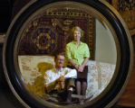 John Jessop (cq) and Cindy Jessop (cq), left to right, owners of Davis & Shaw Furniture, in...