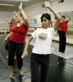Denver, CO July 25, 2005 Karima Kisch (left) and Meera Rawat, Hindu dancers, rehearse for the huge...