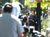 Denver, CO July 28, 2005 Tim Olyphant is filmed during a scene for a movie being shot on the Pearl...