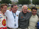 Grand Prix Mini Go-Kart Owner/Driver charity race particpants included, from left, Champ car...