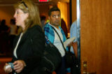 080205 - Plane Survivor  Passengers from today's plane crash wait to leave and meet up with their...
